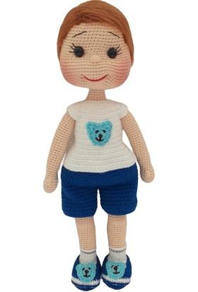 Aysun Yıldız Konbul Amigurumi Organik Örgü Oyuncak Erkek Bebek