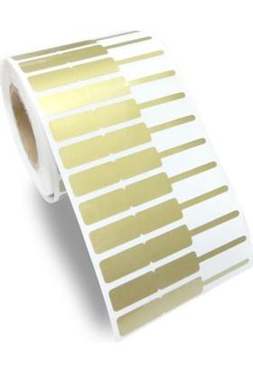 Barcodex 72 x 10 mm Altın Rengi Kuyumcu Etiketi