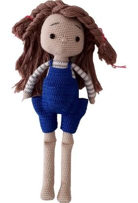 Aysun Yıldız Konbul Amigurumi Organik Örgü Oyuncak Kız Bebek
