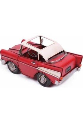 MNK El Yapımı ve Boyalı Dekoratif Metal Araba Kalemlik Classic Chevrolet 1510E-5408