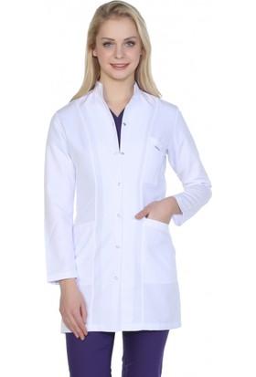 TıpMod Kadın Orta Boy Hakim Yaka Doktor Önlüğü