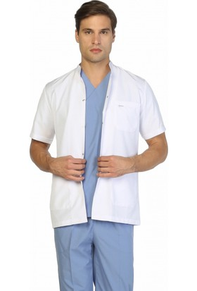 TıpMod Erkek Kısa Kol Hakim Yaka Önlük