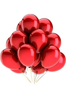 Balon 100 Adet Metalize Balon Metalik Balon Kırmızı 16 Inç