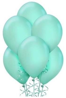 Balon 100 Adet Metalize Balon Metalik Balon Mint Yeşili 16 Inç
