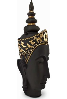 Lime Art Shop Dekoratif 3'lü Siyah Gold Buddha Set Biblo