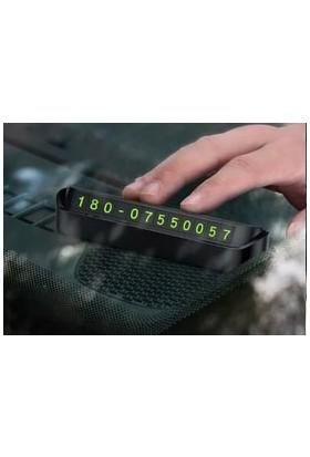 Surax Araç İçi Park Telefon Numarası Fosforlu Numaratör Torpido Üstü 2 Adet
