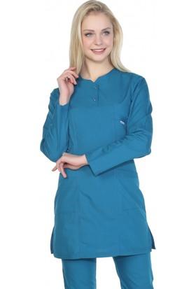 TıpMod Petrol Yeşili Tesettür Hemşire Forması