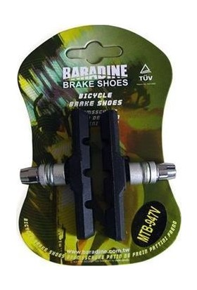 Baradine MTB-947V Kutulu Fren Pabucu Siyah-Kırmızı-Std