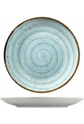 Kütahya Porselen Atlantis 19 cm. Düz Tabak Mavi