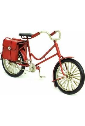 MNK El Yapımı Boyalı Dekoratif Metal Bisiklet Çantalı