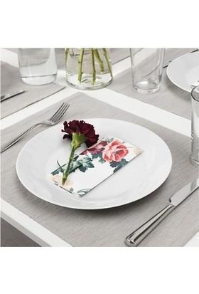 Ikea Smaksınne Çiçek Desenli Peçete 33X33 Cm 30 Adet