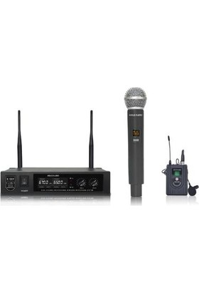 Gold Audio U-626EY Tek El ve Yaka Uhf Çift Telsiz Mikrofon