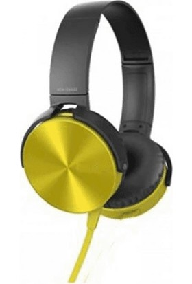 Mobitell Mdr Sarı Ekstra Bass Mikrofonlu Kulaküstü Kulaklık