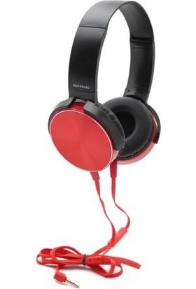 Mobitell Mdr Kırmızı Ekstra Bass Mikrofonlu Kulaküstü Kulaklık