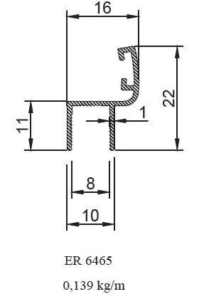 Ersaş Alüminyum Cam Balkon Fitili Küçük H Profil Parlak Inox 1'li 125 cm