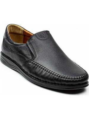 Polaris 105517 Beş Nokta Siyah Deri Erkek Günlük Ayakkabı