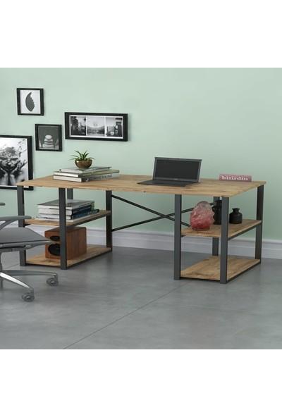 Bitirdin 4 Raflı 120 cm Çalışma Masası Bilgisayar Laptop Ofis Masası