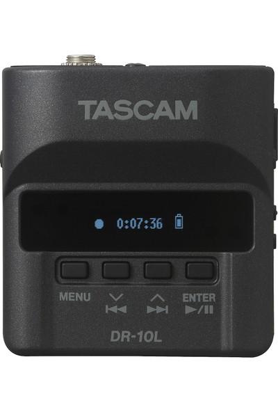 Tascam DR-10L Yaka Mikrofonu ve Dijital Ses Kaydedici - Siyah
