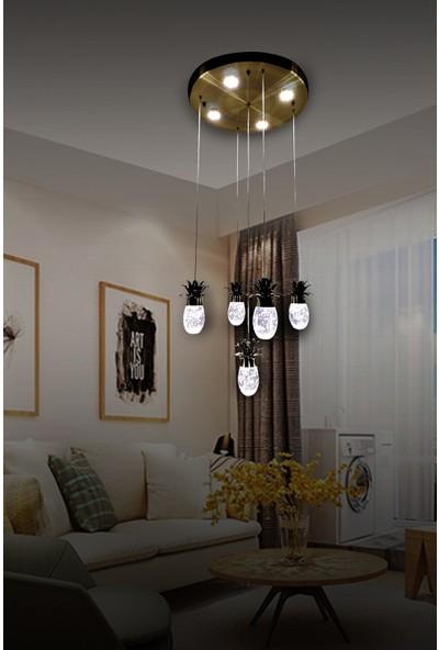 Luna Lighting Modern Luxury Sarkıt 5+4 LED Ledli Avize