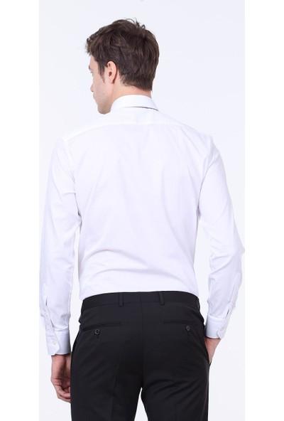 Ramsey Düz Dokuma Uzun Kollu Gömlek