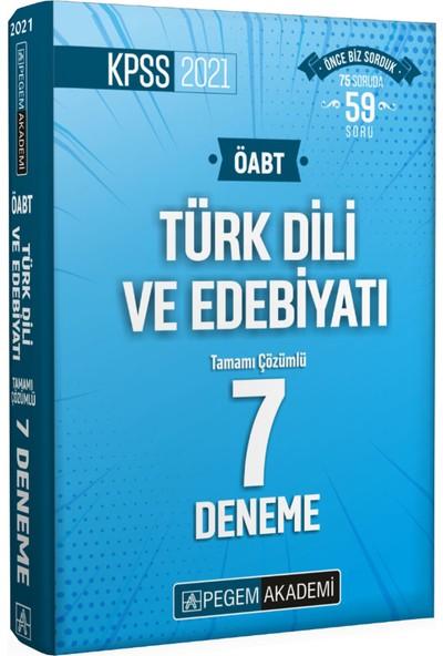 Pegem Akademi KPSS 2021 ÖABT Türk Dili ve Edebiyatı Tamamı Çözümlü 7 Deneme