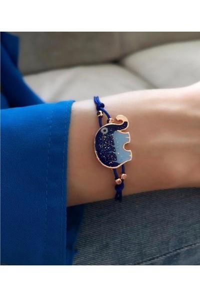 Serpil Jewellery Kadın Ithal Mineli Filli Şans Bilekliği
