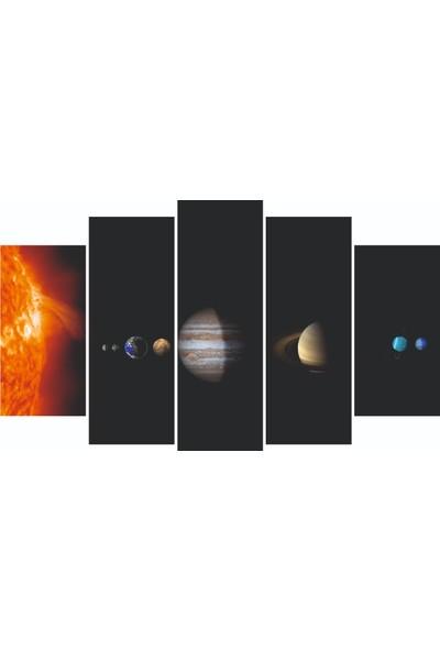 Nirvana Gezegen Temalı 5 Parçalı Tablo