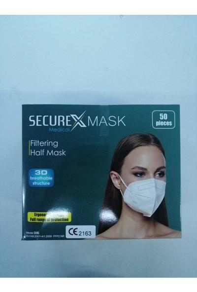 Securex Mask Ffp2 N95 Maske 50 Adet + Dezenfektan Jel
