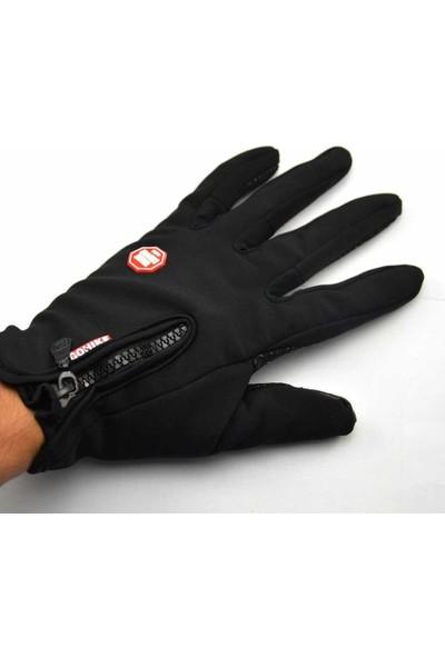 Pozitif Motorcu Eldiveni Kışlık Dokunmatik Ekran Eldiveni