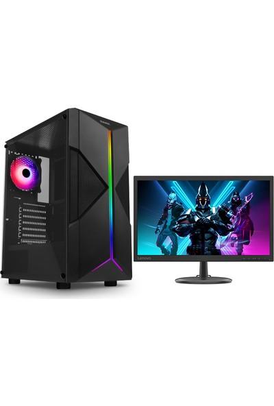 """Teknobiyotik AMD Ryzen 3 1200 AF 8GB 240GB SSD RX570 Freedos 21.5"""" Masaüstü Bilgisayar (DK-PC-E1V2020-M)"""