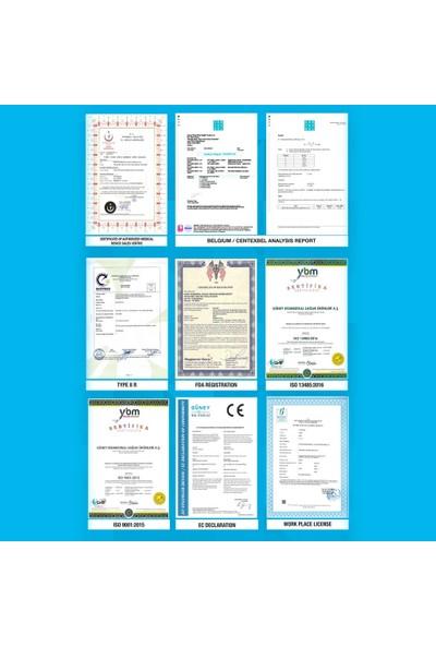 BeSafe Tekli Ambalaj Premium Kutu Cerrahi Maske 3 Katlı MB - 100 Adet