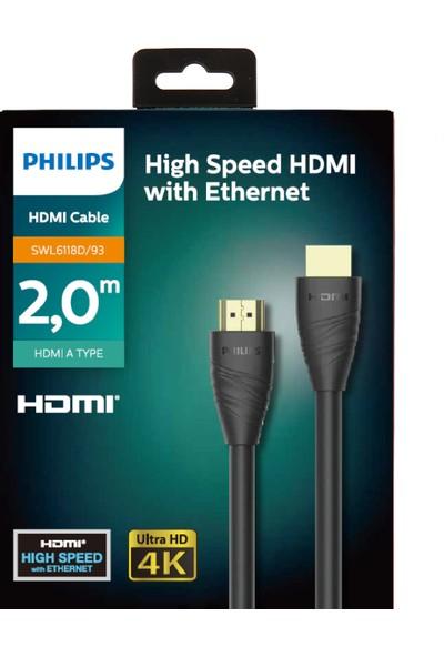 Philips SWL6118D/93 4K 2.0 18G Bps 60Hz HDR10 + 3D - 2 mt