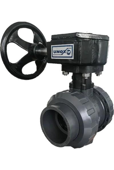 Unox U-Pvc Redüktörlü Yapıştırma Tip Küresel Vana - Su Için