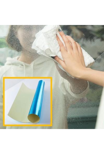 Buffer Kendinden Yapışkanlı Ayna Ev Dekorasyon Sticker Çıkartmalı Parlak Dolap Kapı Folyo 60x100 cm