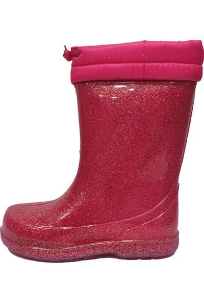 Akınal 1755.011-20 Kürklü Yağmur Filet Çocuk Çizme