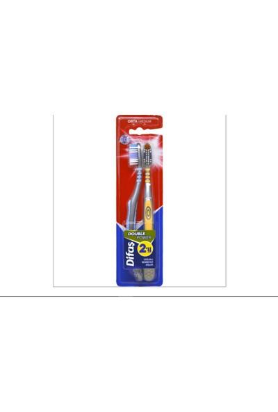 Difaş Double Power 2'li Diş Fırçası ( Orta )