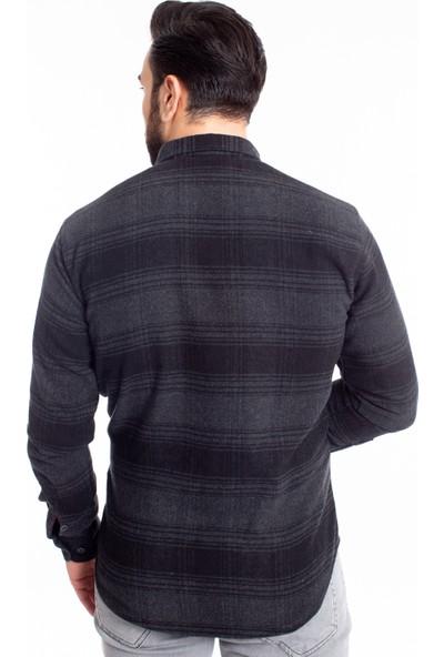 Desen Triko Pamuk Erkek Oduncu Gömlek