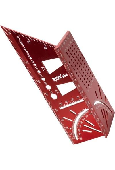 Rox Wood 0092 Alüminyum 3D Açılı Gönye Işaretleme 150 mm