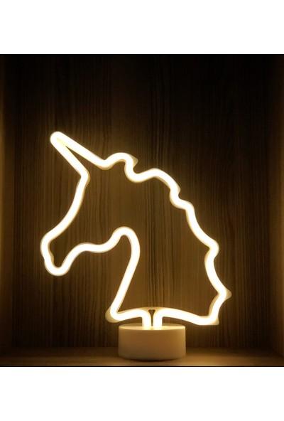Technophone Dekoratif Neon Unicorn Lamba 30X24 cm