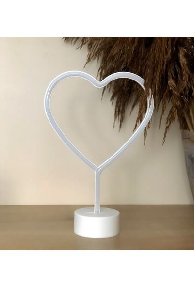 Technophone Dekoratif Neon Kalp Masa Lambası 29.5X20 cm