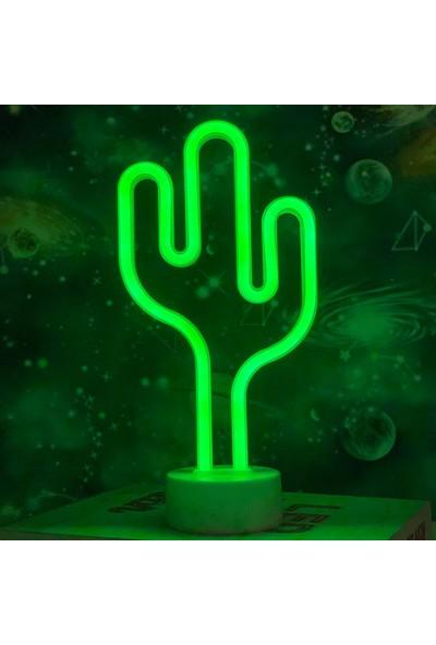 Technophone Dekoratif Neon Kaktüs Lamba 30X15CM