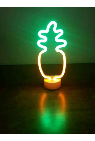 Technophone Dekoratif Ananas Neon Lamba 30 x 12 cm