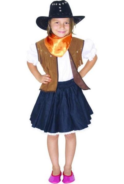 Batm Kostüm Kovboy Kız Kostümü