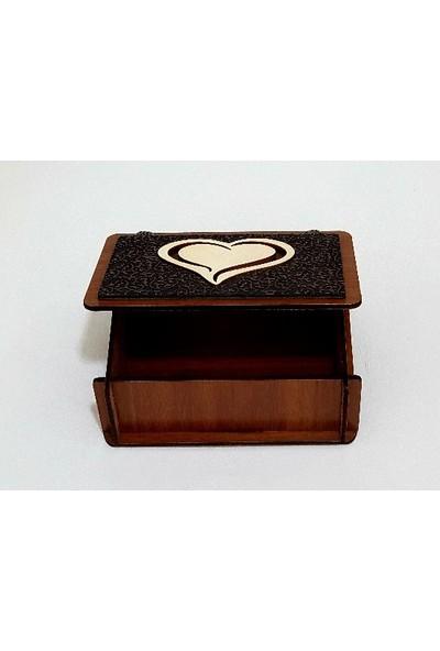 İki Kaşık Kalpli Takı Kutusu, Ahşap Hediye Kutusu