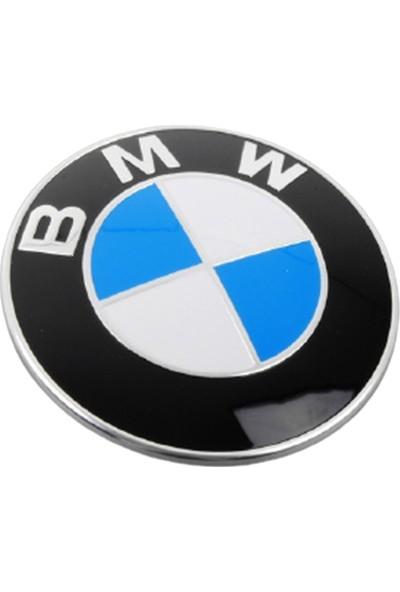 Blue Bmw 82MM Ön Kaput Arma Ön Logo Bmw Amblem Silikon Kaplama 1 Adet Blueoto