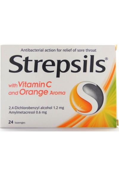 Strepsils Vitamin C Orange 24 Pastil   Portakal Aromalı