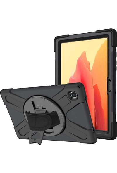 Happyshop Samsung Galaxy Tab A7 T500 Kılıf Ultra Korumalı Standlı Askılı Tutmalı Defender Kılıf