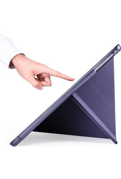Happyshop Apple iPad Pro 10.5 Kalemlıklı Arkası Silikon Standlı Trifolding Kılıf