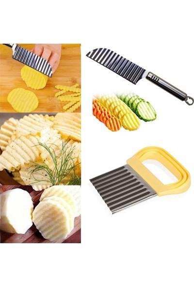 Ucuzal Şekilli Patates Bıçağı ve Chips Chopper Şekilli Patates Dilimleyici