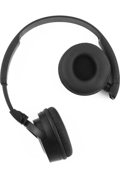 Alp Collection Kulaküstü Kablosuz Bluetooth Wireless Kulaklık Katlanabilir Siyah